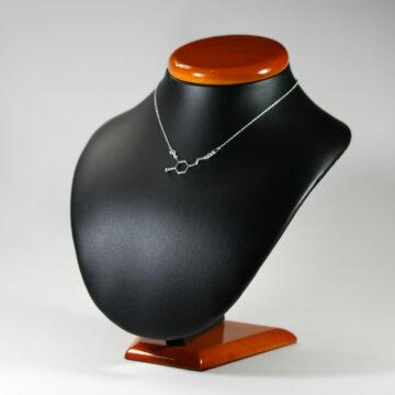 naszyjnik z łącznikiem dopamina - damska biżuteria srebrna na prezent