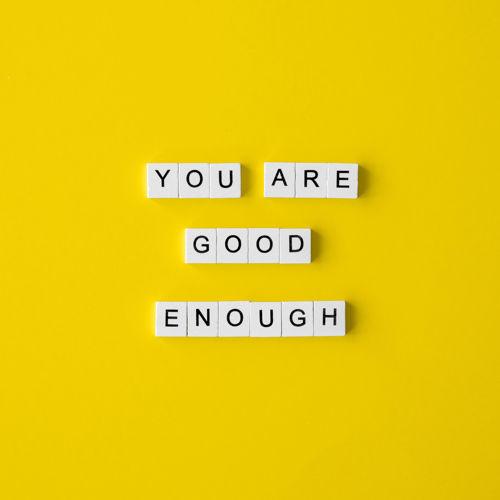 grafika motywacyjna - you are good enough