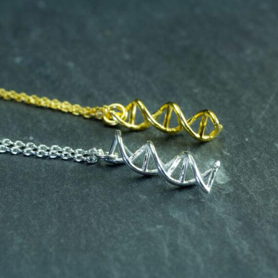 wisiorki z DNA - srebrna biżuteria damska